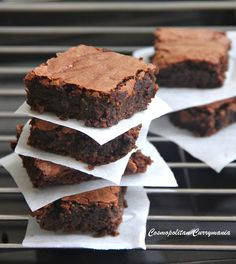 Dark Chocolate Brownies: These rich, sinful, moist and delicious dark chocolate brownies are comfortingly fudgy. Use good-quality dark chocolate for making these.