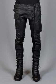 #Memphis trousers | Rick Owens DRKSHDW | Layers London  Very comfortable waxed cotton with ample pockets.