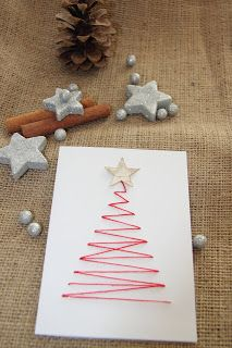 Diy Christmas Cards, Winter Christmas, Holiday Crafts, Christmas Time, Christmas Decorations, Xmas, 1 Advent, Cards Diy, Diy Weihnachten