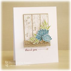 CAS Thank You Card by Torico - Cards and Paper Crafts at Splitcoaststampers