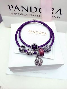 50% OFF!!! $179 Pandora Leather Charm Bracelet Black Brown. Hot Sale!!! SKU: CB02084 - PANDORA Bracelet Ideas
