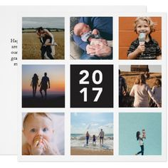 2017 Year in Review Holiday Card - diy individual customized design unique ideas