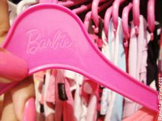 ♥Barbie hangers for all my dresses.
