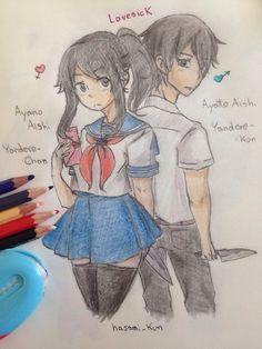 Ayano Aishi and Ayato Aishi by ScissorBoy1995