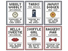 Hey, I found this really awesome Etsy listing at http://www.etsy.com/listing/153467010/set-of-six-doctor-who-inspired-little