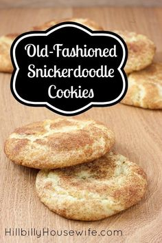 Old Fashioned Snickerdoodles - Hillbilly Housewife - These old-fashioned snicker-doodle cookies arYou can find Macaroons and more on our website.Old Fashioned Snickerdoodles - Hillbilly Housewife - These old-fashioned snicker-doodle c. Köstliche Desserts, Delicious Desserts, Dessert Recipes, Yummy Food, Delicious Cookies, Cake Recipes, Easy Cookie Recipes, Baking Recipes, Easiest Cookie Recipe