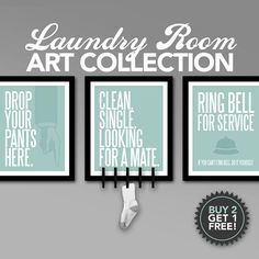 Laundry Room Art Collection Printable By Studio120Underground