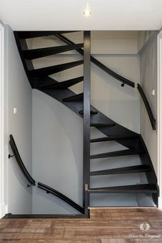 Carazzo in the colour Black, Classico in the colour Evening Shadow Open Stairs, Loft Stairs, House Stairs, Black Staircase, Open Trap, Lime Paint, Loft Room, New Homes, The Originals