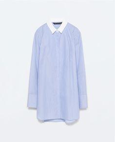 ZARA - SALE - ストライプコットンシャツ