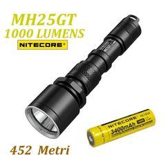 NITECORE MH25GT Flashlight 1000 Lumens-con batteria ricaricabile