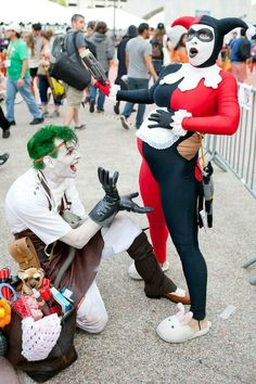 Pregnant Harley and Daddy Joker