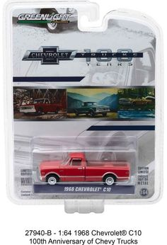 1:64 Greenlight Anniversary Collection Series 6 - 1968 Chevrolet C10 Pickup #Greenlight #Chevrolet