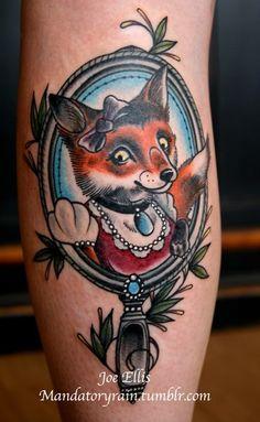 Old School Fox Tattoo