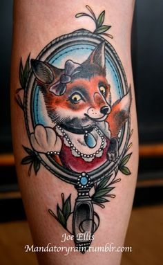Old School Fox Tattoo
