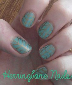 Herringbone Sharpie Nails