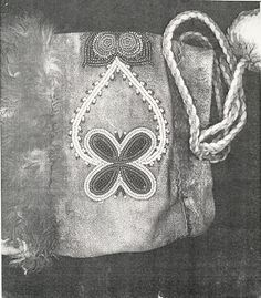 Design and Patterns in Metis Beadwork - mukluk, heart and butterfly