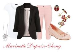 """""""Marinette Dupain-Cheng casual outfit"""" by karia-tenoh on Polyvore featuring moda, Joseph, Zhenzi, WithChic, Easy Spirit y September Rose"""