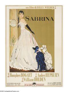 "Sabrina (Paramount, 1954). Italian (55"" X 78""). One of Audrey Hepburns best movies."