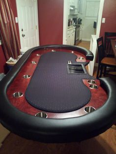 Men cave · custom poker tables by shane poker table plans, poker table diy, diy table, Poker Table Diy, Poker Table Plans, Custom Poker Tables, Diy Table, Poker Night, Led Diy, Casino Games, Table Games, Game Room