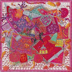 a5e879554ed1 La Maison des Carrés Hermès   Cavaliers du Caucase Hermes Bags, Hermes  Scarves, Silk