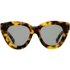 Karen Walker Eyewear Anytime Sunglasses ($280) ❤ liked on Polyvore