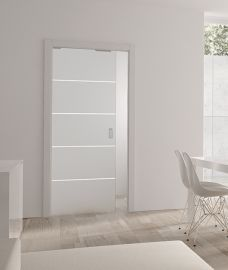 Single Pocket Doors Glass glass pocket door. no jambs and no architraves. just clean lines
