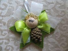 decorazione natalizia - angioletto pigna
