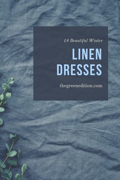 While generally marketed as a summer option, linen is, in fact, a great winter weather option too. There are some gorgeous colours for autumn and winter, some in heavier linen. And for the lighter linen, it is good to layer up! I love long winter linen dresses with tights and boots for the colder months. Here are my 18 best linen dress picks for winter!