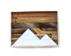 Reclaimed wood tray serving tray decorative tray by infiniteabyss