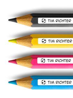 Praktische Stifteaufkleber mit Namen, Namensaufkleber für die Schule / pencil sticker with kid's name made by watsonlabelvia DaWanda.com