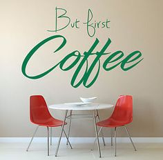 But first Coffee Vinyl Wall Art Sticker Mural Decal, Kitchen, Cafe, Home decor Coffee Branding, But First Coffee, Vinyl Wall Art, Decals, Sticker, Wall Decor, Wallpaper, Kitchen, Handmade