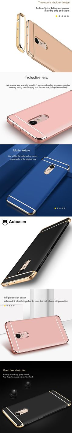 For Xiaomi Redmi note 4x Case Aubusen Luxury 3-IN-1 Shockproof Frosted Shield Hard Back Cover Case for xiaomi Redmi note 4X