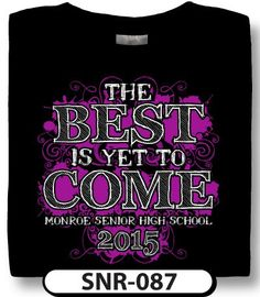 Get nothing but the best for the best class yet! Use your own colors and information to outfit your seniors in one of a kind t-shirt design from spiritwear.com. We can include individual signatures in the design too!