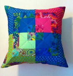 Pillow with Kaffe Fassett fabrics