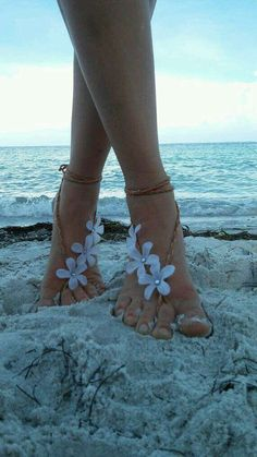 Beautiful Barefoot Sandels For A Beach Wedding Or An Outdoor Event!