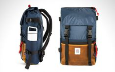 """submitted by Everyday Carry""""Colorado's Topo Designs set out to make a backpack that's equally at home in the city or the great outdoors. The Rover has a water-resistant Cordura upper section and a handsome Horween leather base. Its main compartment is spacious, and there's a laptop sleeve, an easy access front pocket, and..."""" (via The Awesomer)Read More"""