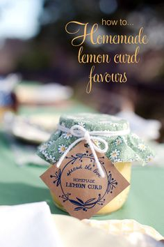 Lemon curd wedding favours title Homemade Lemon Curd Favours And Free Tags