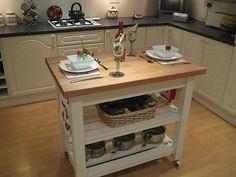 Shabby Chic Butchers block kitchen Island Unit in Laura Ashley ( made to order ) | eBay