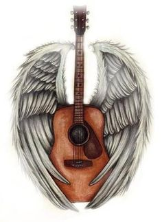 guitar with wings tattoos - Google Search