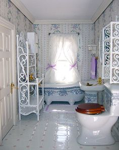 dollhouse victorian bathroom ideas - Google Search