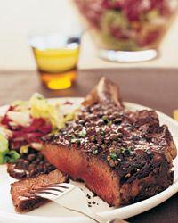 Rib-Eye Steak au Poivre Recipe on Food & Wine