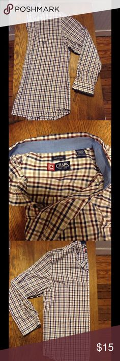 Men's chaps dress shirt Worn a couple time, 2xl men's chaps shirt Chaps Shirts
