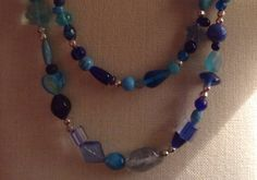 Blue+Chunky+Double+Strand+Necklace+by+Tarasexpressions+on+Etsy,+$32.00