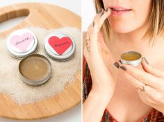 Moisturize your lips with a homemade sugar honey lip scrub.