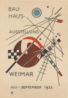 Vasily Kandinsky. Bauhaus Ausstellung Weimar Juli–Sept, 1923, Karte 3. 1923. Lithograph, 5 7/8 × 3 15/16″ (15 × 10 cm)