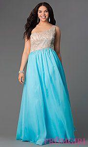 Buy Floor Length One Shoulder Prom Dress at PromGirl