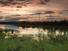 Summer night with midnight sun in Gällivare, Norrbotten, Sweden by Agnieszka Piatkowska