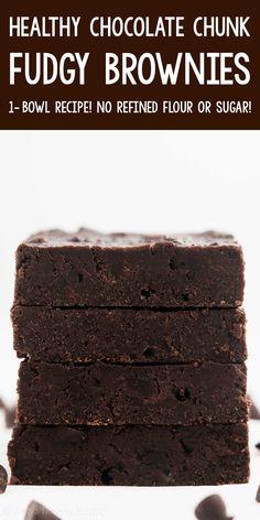 Low Calorie Brownies, Low Calorie Desserts, Healthy Brownies, Homemade Brownies, Healthy Cookies, Healthy Sweets, Healthy Baking, Healthy Muffin Recipes, Healthy Dessert Recipes