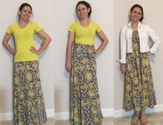 LuLaRoe maxi skirt! Perfect transition to spring. Also can be worn as a dress.