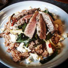 Thunfisch auf sizilianischem Couscous und Gemüse  #Food #foodblog #foodporn #tuna #couscous